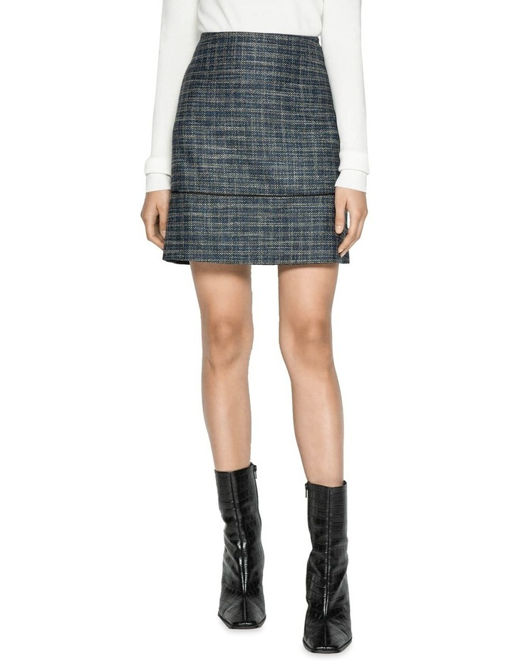 Melange Tweed Mini Skirt image 2
