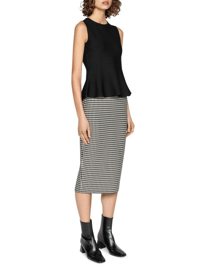 Houndstooth Milano Knit Midi Pencil Skirt image 1
