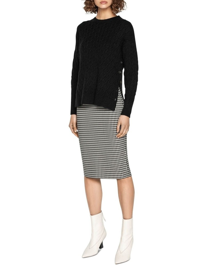 Houndstooth Milano Knit Skirt image 1