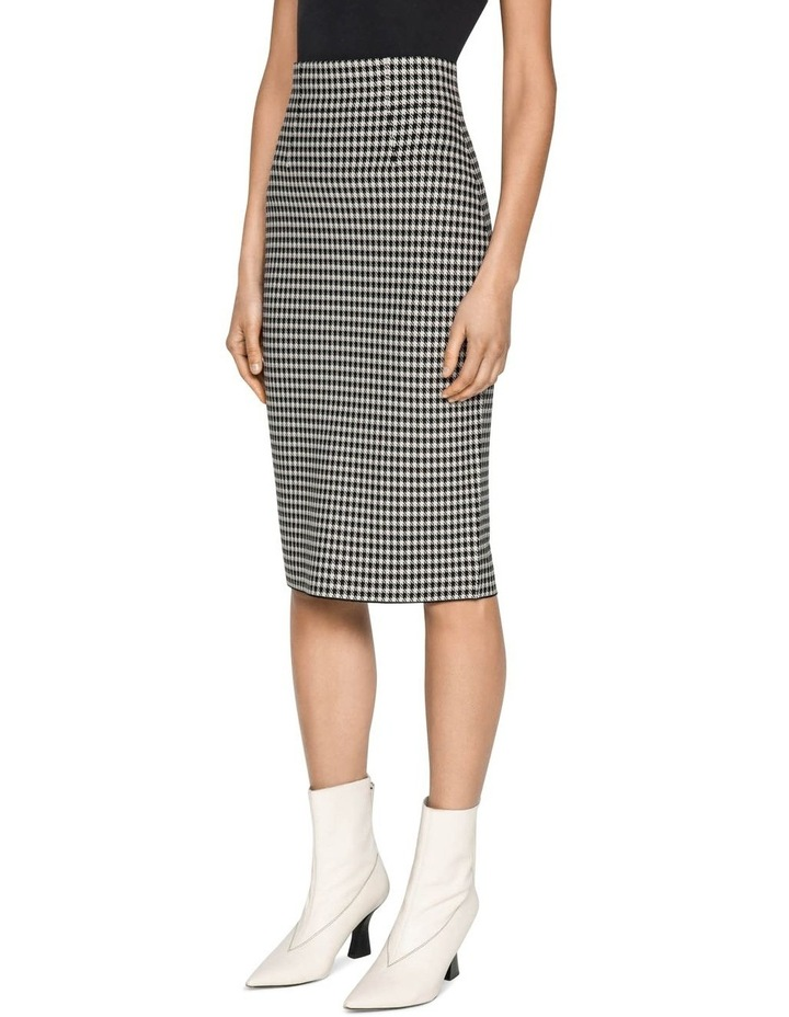 Houndstooth Milano Knit Skirt image 2