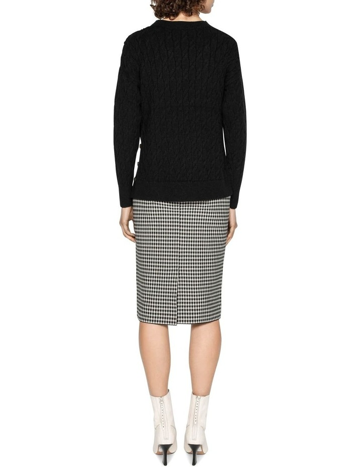 Houndstooth Milano Knit Skirt image 3