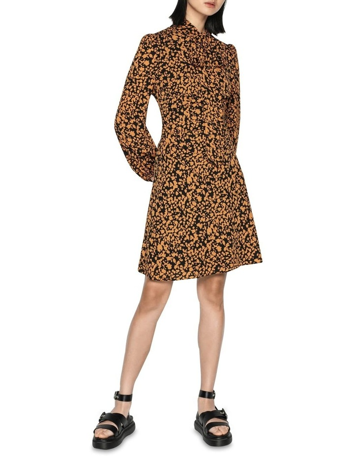 Abstract Spot Tie Neck Dress image 1