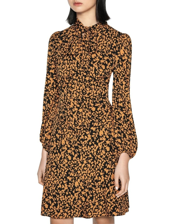Abstract Spot Tie Neck Dress image 2