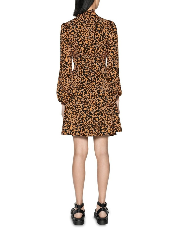 Abstract Spot Tie Neck Dress image 3
