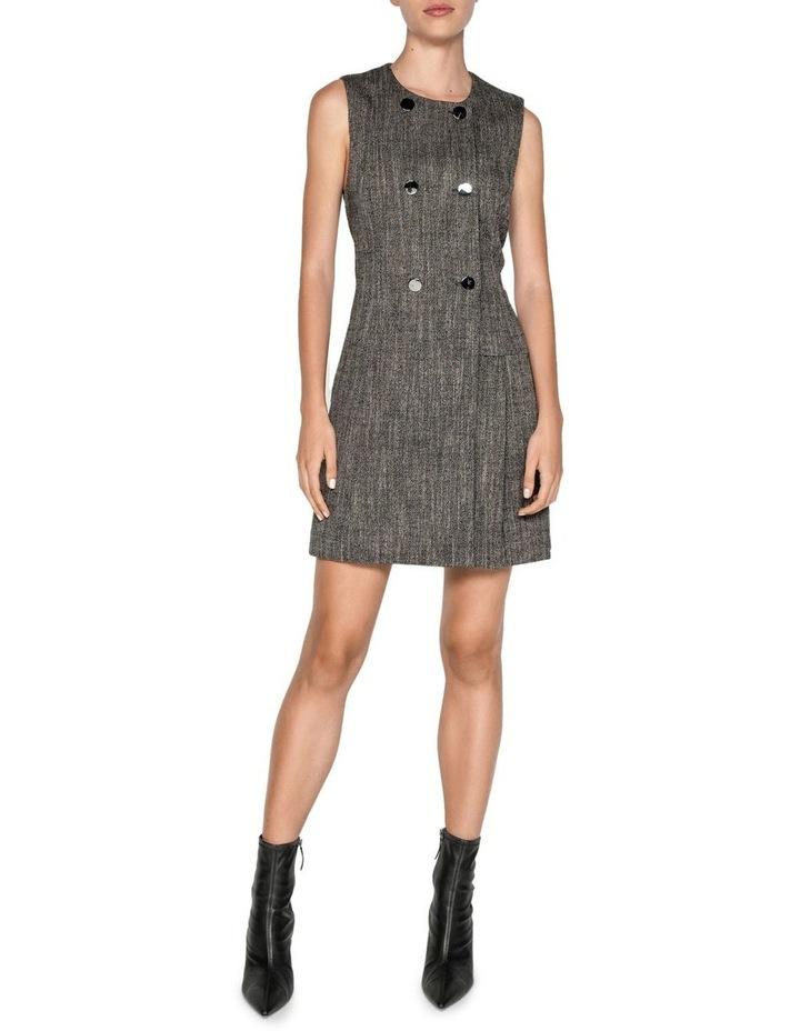 Melange Tweed Button Front Dress image 1