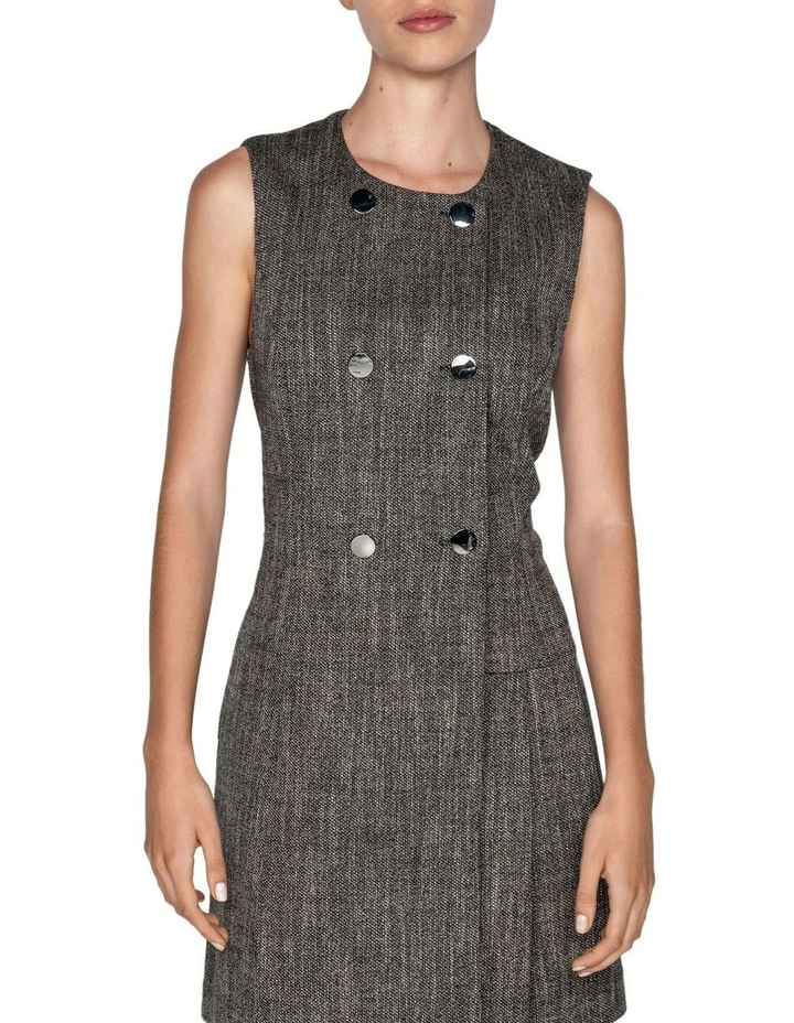 Melange Tweed Button Front Dress image 2