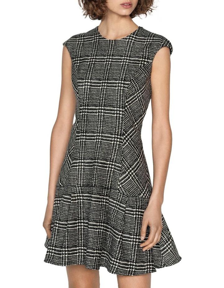 Chenille Check Frilled Hem Dress image 2
