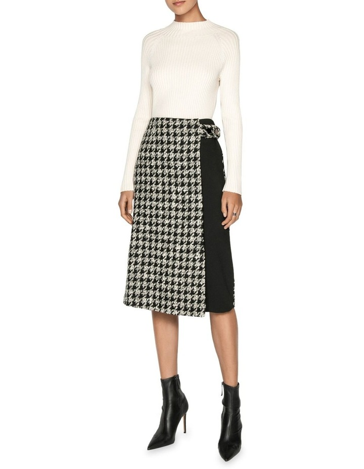 Boucle Houndstooth Wrap Skirt image 1