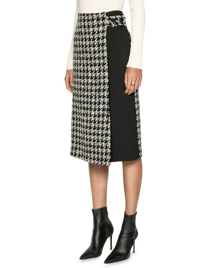 Boucle Houndstooth Wrap Skirt image 2