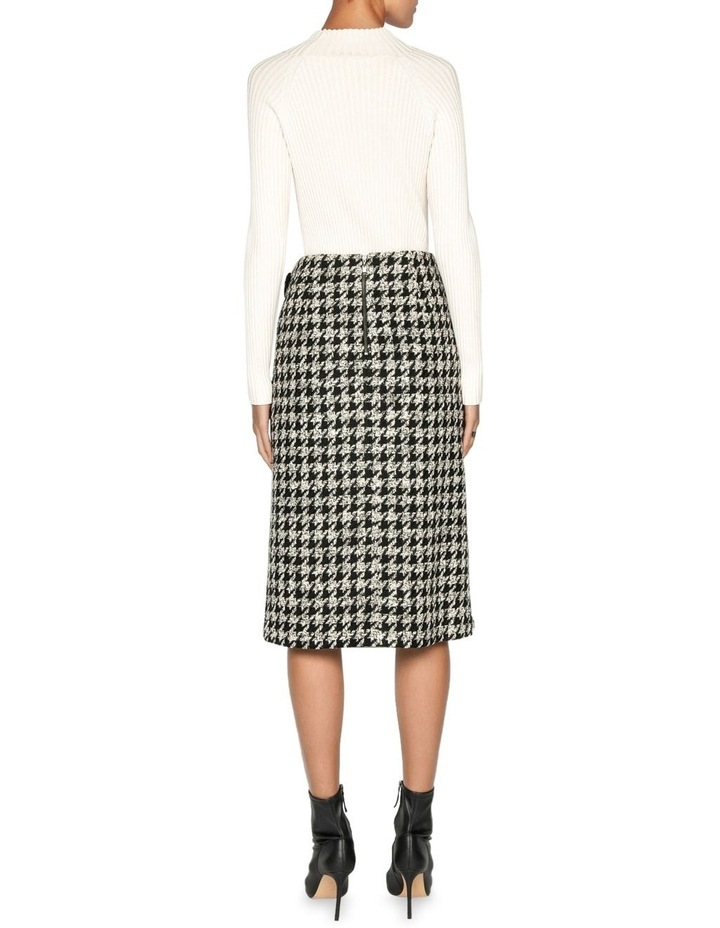 Boucle Houndstooth Wrap Skirt image 3