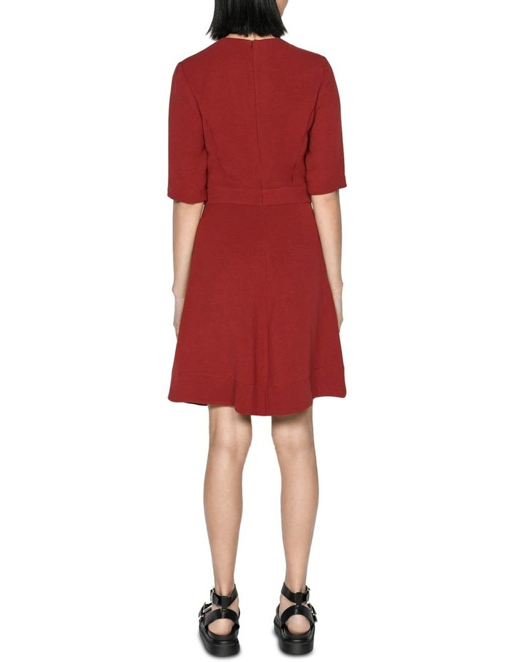 Rust Crepe Belted Dress image 3