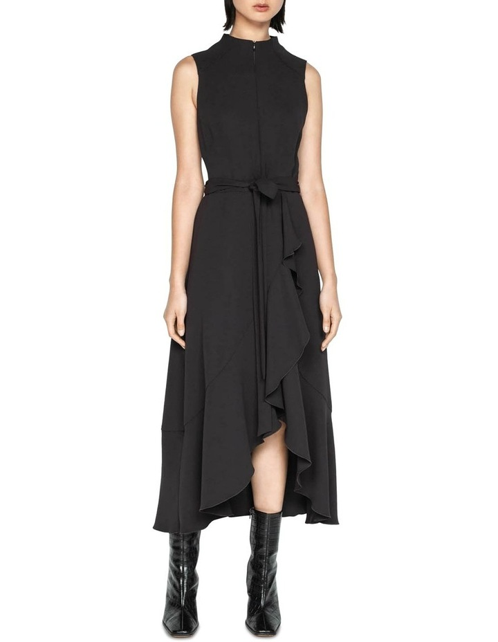 Plum Frilled Hem Midi Dress image 1