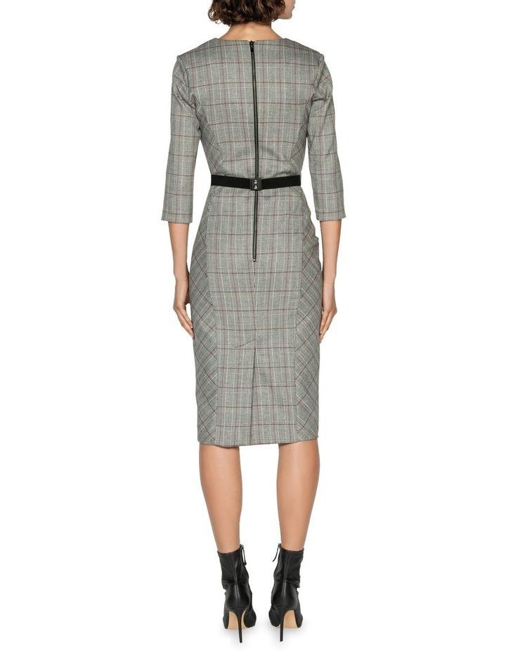 Houndstooth Belted Pencil Dress image 3