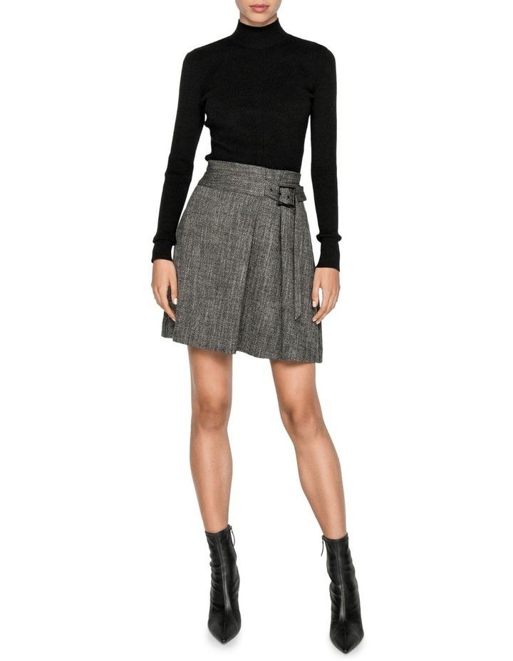 Melange Tweed Paperbag Waist Skirt image 1