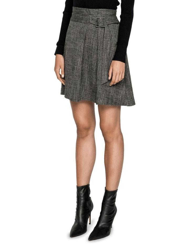Melange Tweed Paperbag Waist Skirt image 2