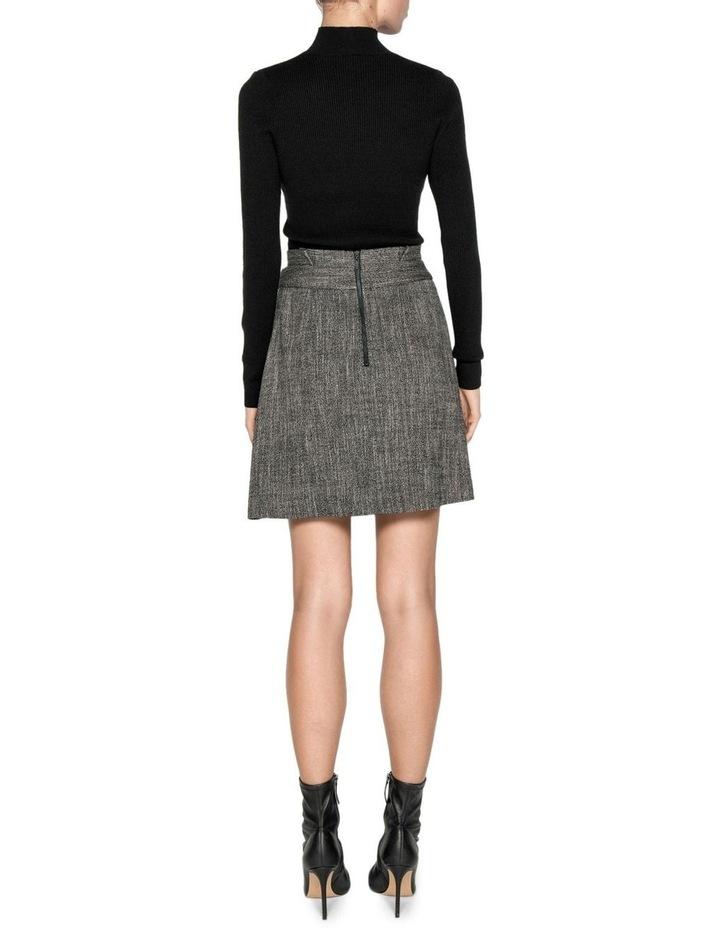 Melange Tweed Paperbag Waist Skirt image 3