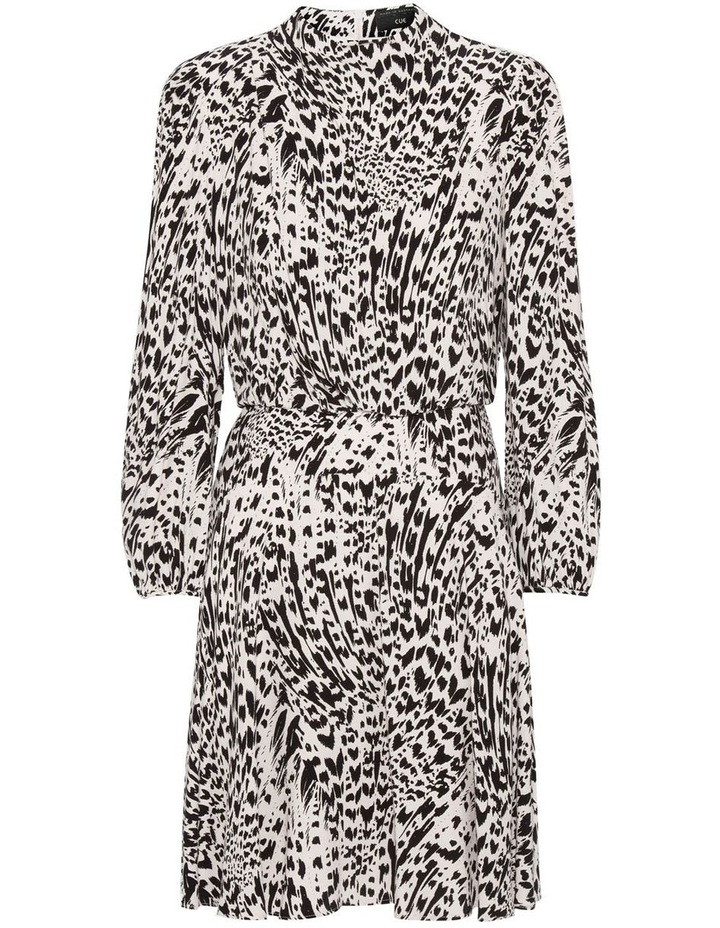 Abstract Animal Long Sleeve Dress image 1