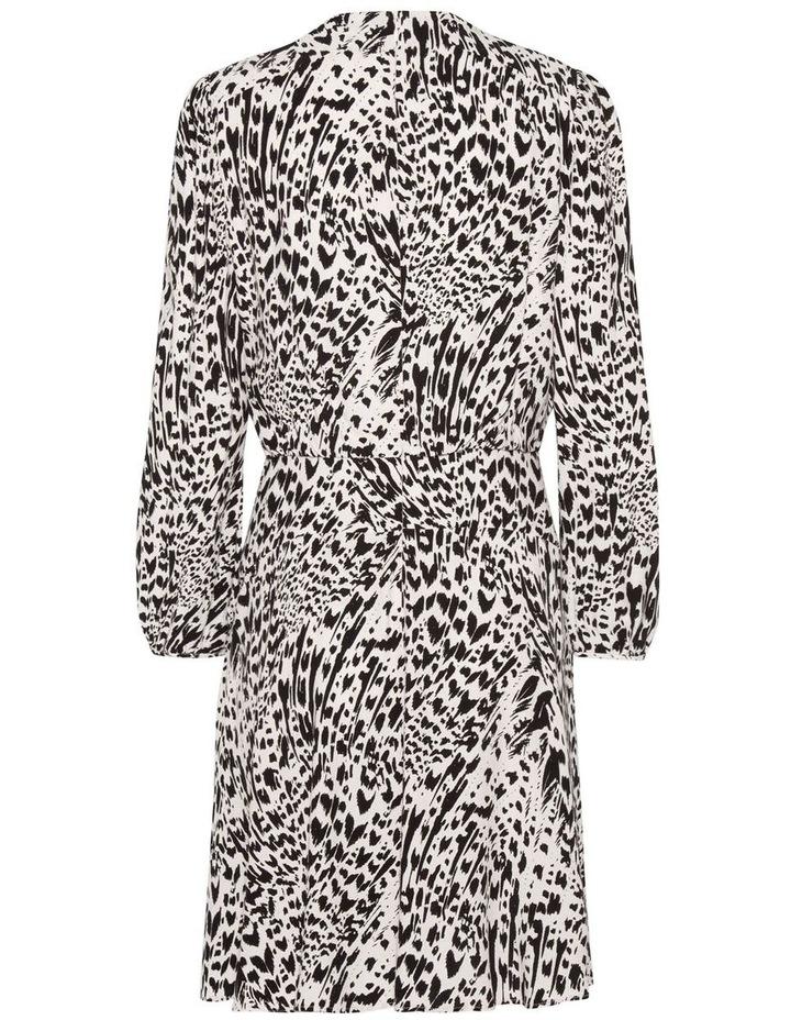 Abstract Animal Long Sleeve Dress image 2
