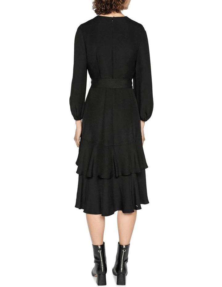 Tiered Frill Tie Waist Dress image 3