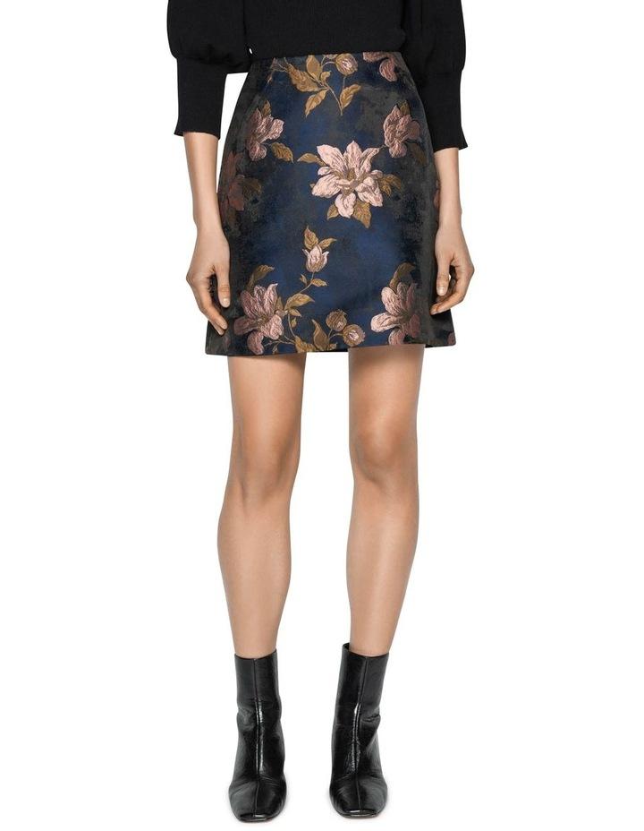 Rose Jacquard Mini Skirt image 2