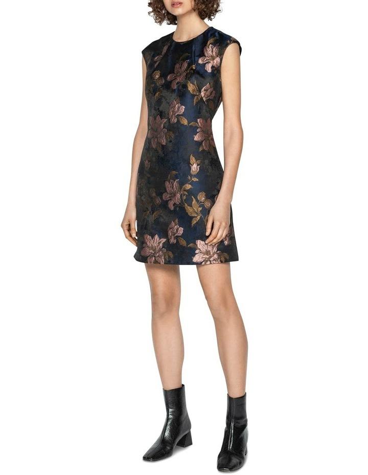 Rose Jacquard Shift Dress image 1