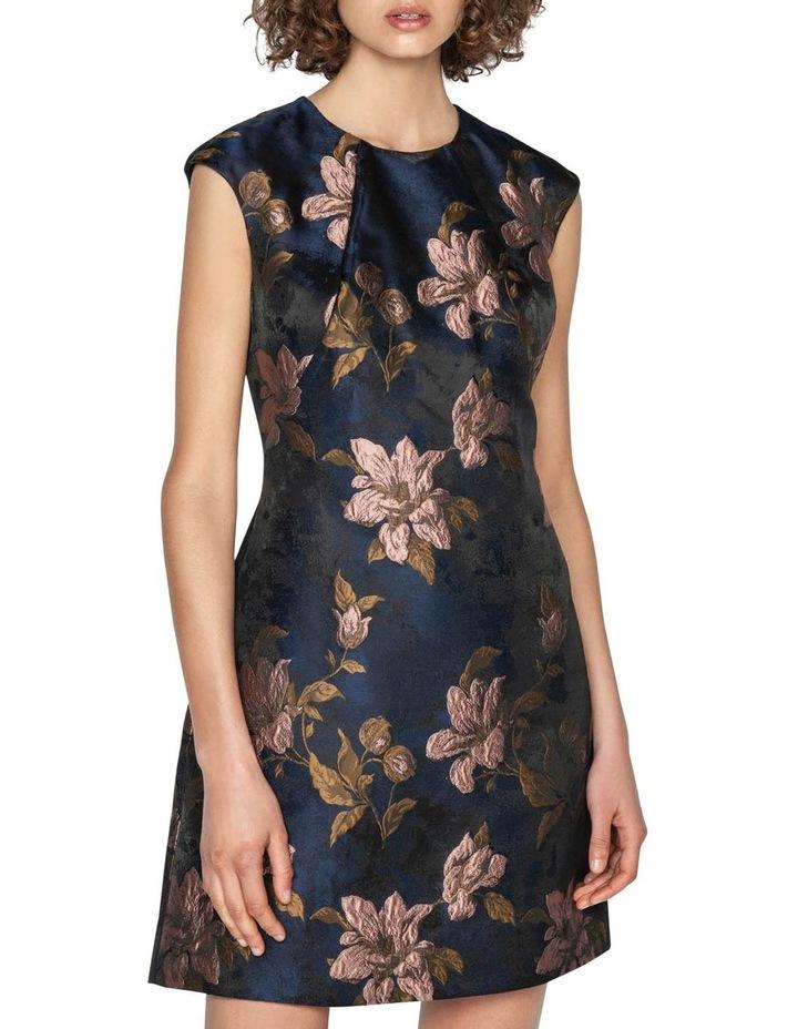 Rose Jacquard Shift Dress image 2