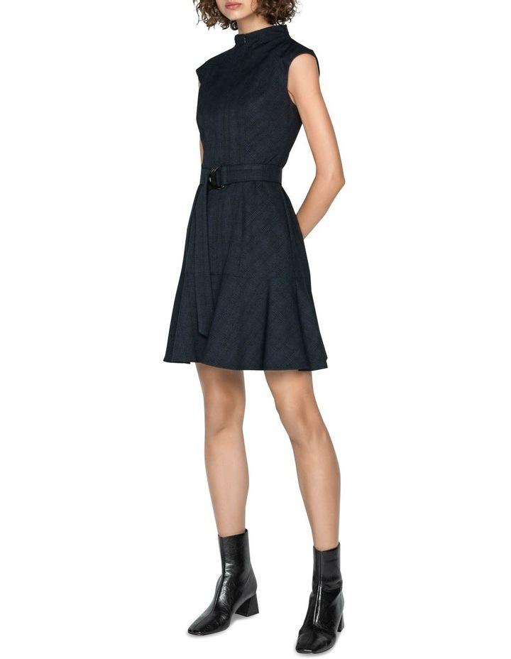 Ink Check Belted Dress image 1