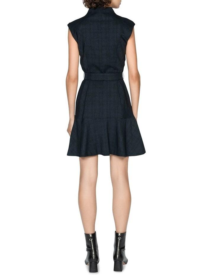 Ink Check Belted Dress image 3
