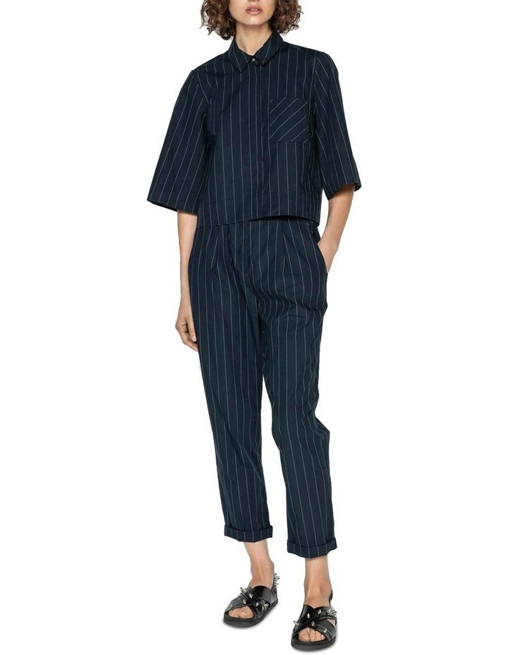 Cotton Pinstripe Elasticated Pant image 1