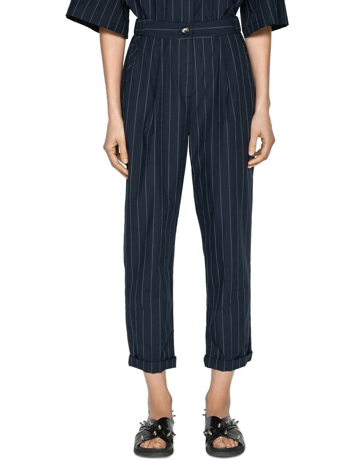Cotton Pinstripe Elasticated Pant image 2