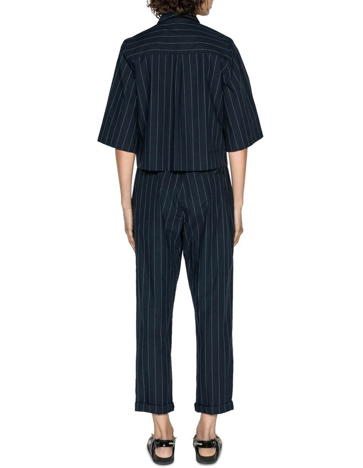 Cotton Pinstripe Elasticated Pant image 3