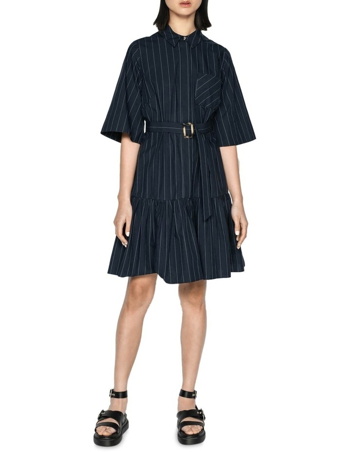 Cotton Pinstripe Shirt Dress image 1