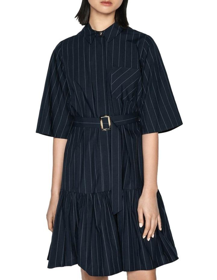 Cotton Pinstripe Shirt Dress image 2