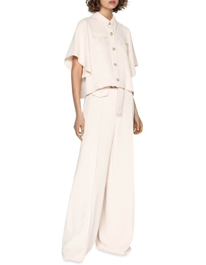 Belted Wide Leg Pant image 1