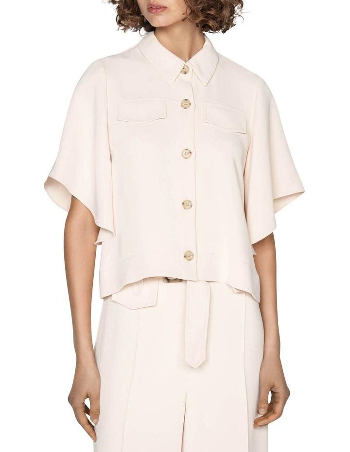 Kimono Sleeve Button Front Top image 2