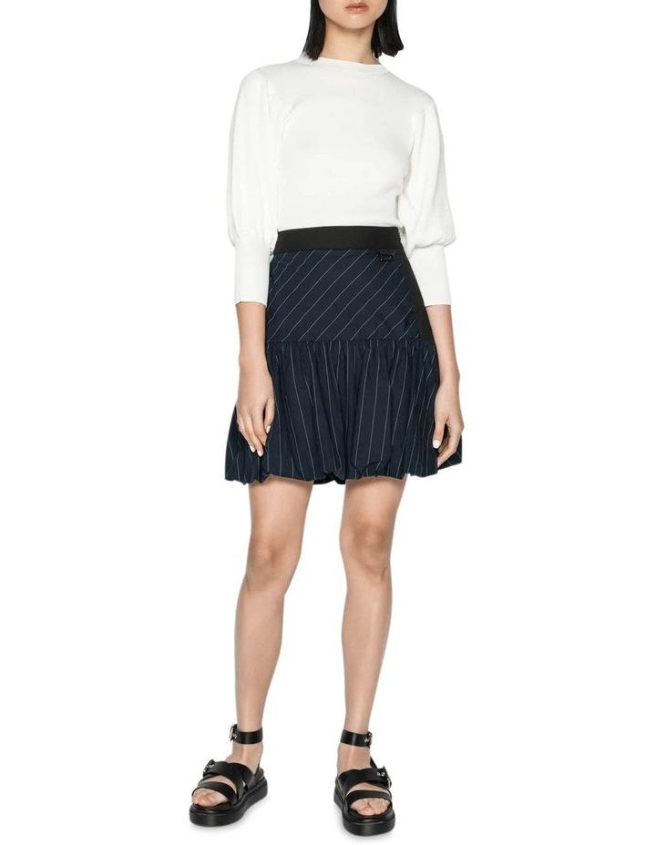 Pinstripe Bubble Skirt image 1