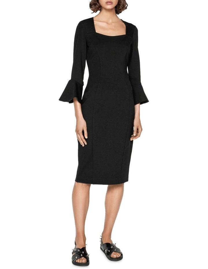 Double Knit Fluted Sleeve Dress image 1