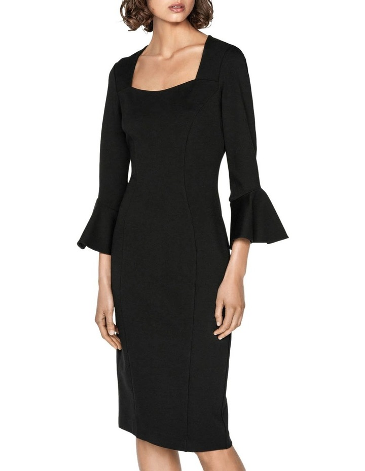 Double Knit Fluted Sleeve Dress image 2