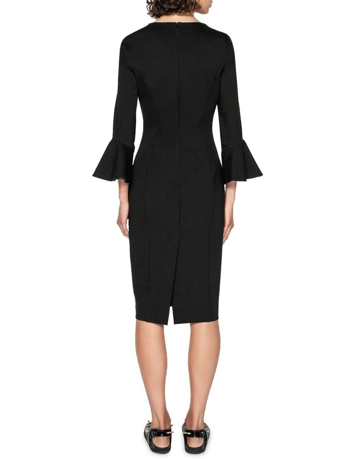 Double Knit Fluted Sleeve Dress image 3