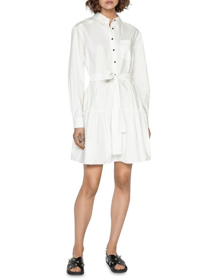Cotton Belted Shirt Dress image 1
