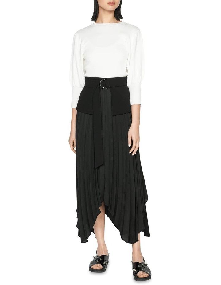 Pleated Peplum Midi Skirt image 1