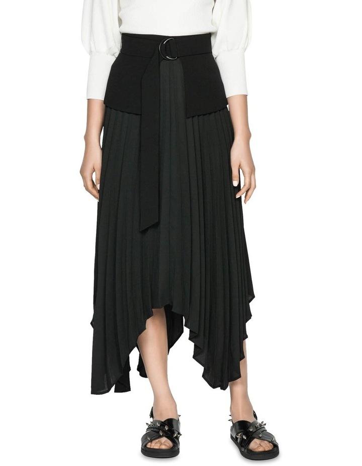 Pleated Peplum Midi Skirt image 2