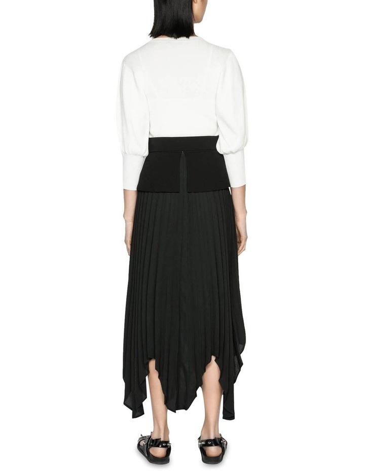 Pleated Peplum Midi Skirt image 3