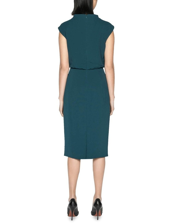 Draped Skirt Funnel Neck Dress image 3