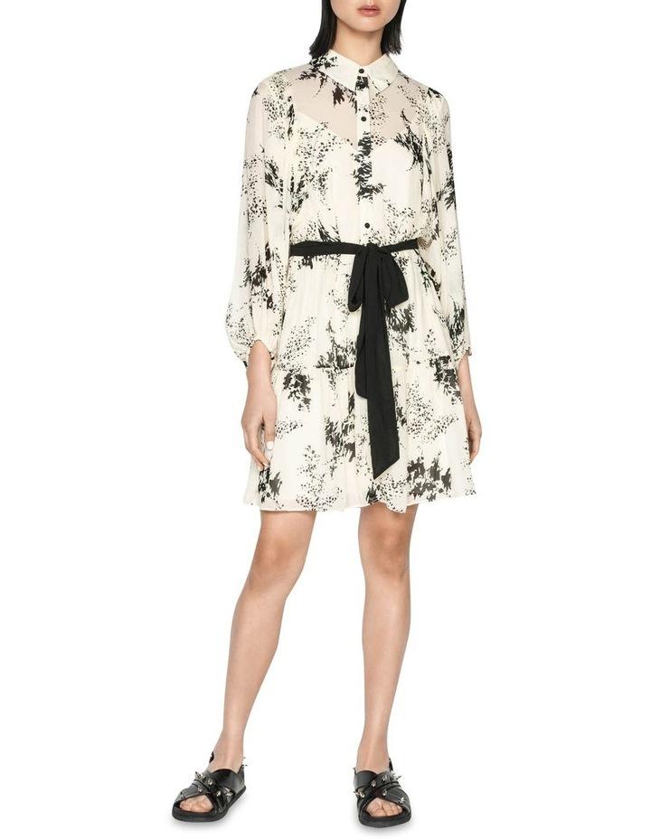 Monochrome Sprig Shirt Dress image 1