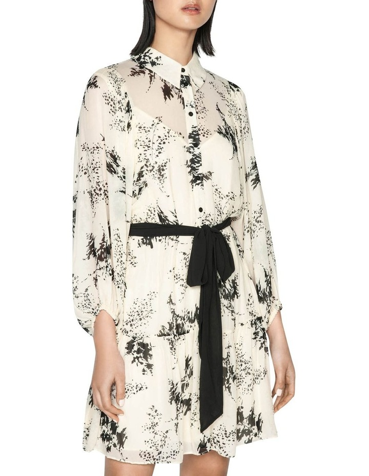 Monochrome Sprig Shirt Dress image 2
