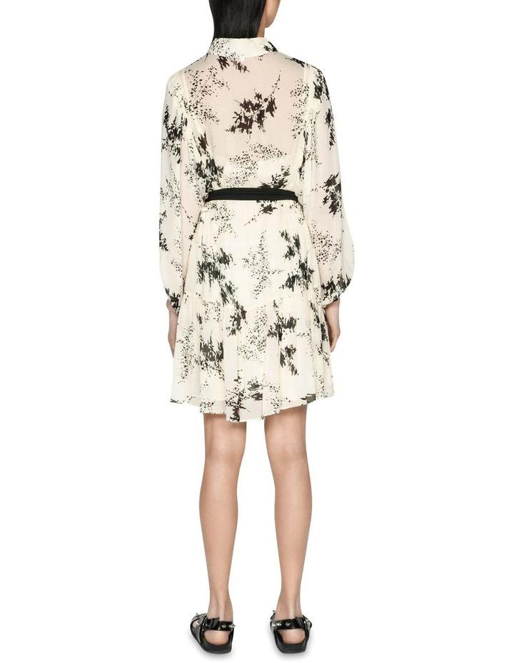 Monochrome Sprig Shirt Dress image 3