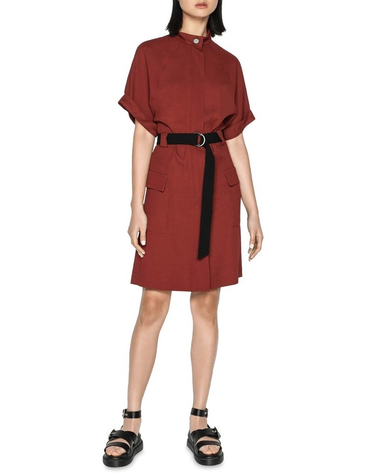 Twill Button Front Utility Dress image 1