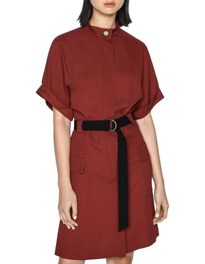 Twill Button Front Utility Dress image 2