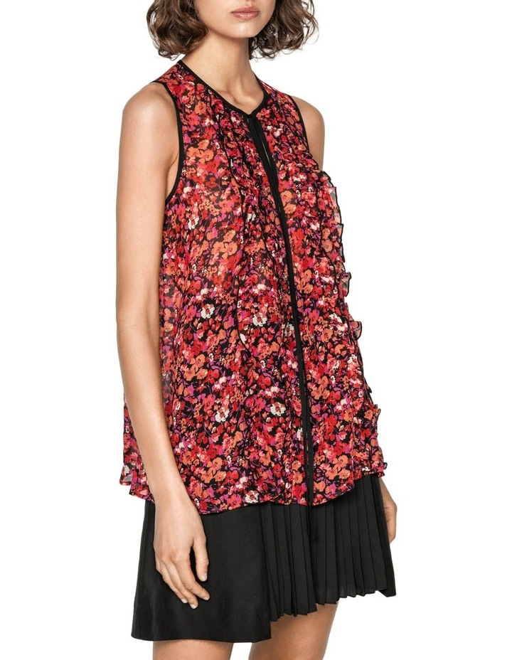 Berry Floral  Viscose Ruffle Top image 2